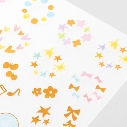 Midori Seal Collection Planner Stickers Removable Shiny Pastel | Date - The Stationery Life!