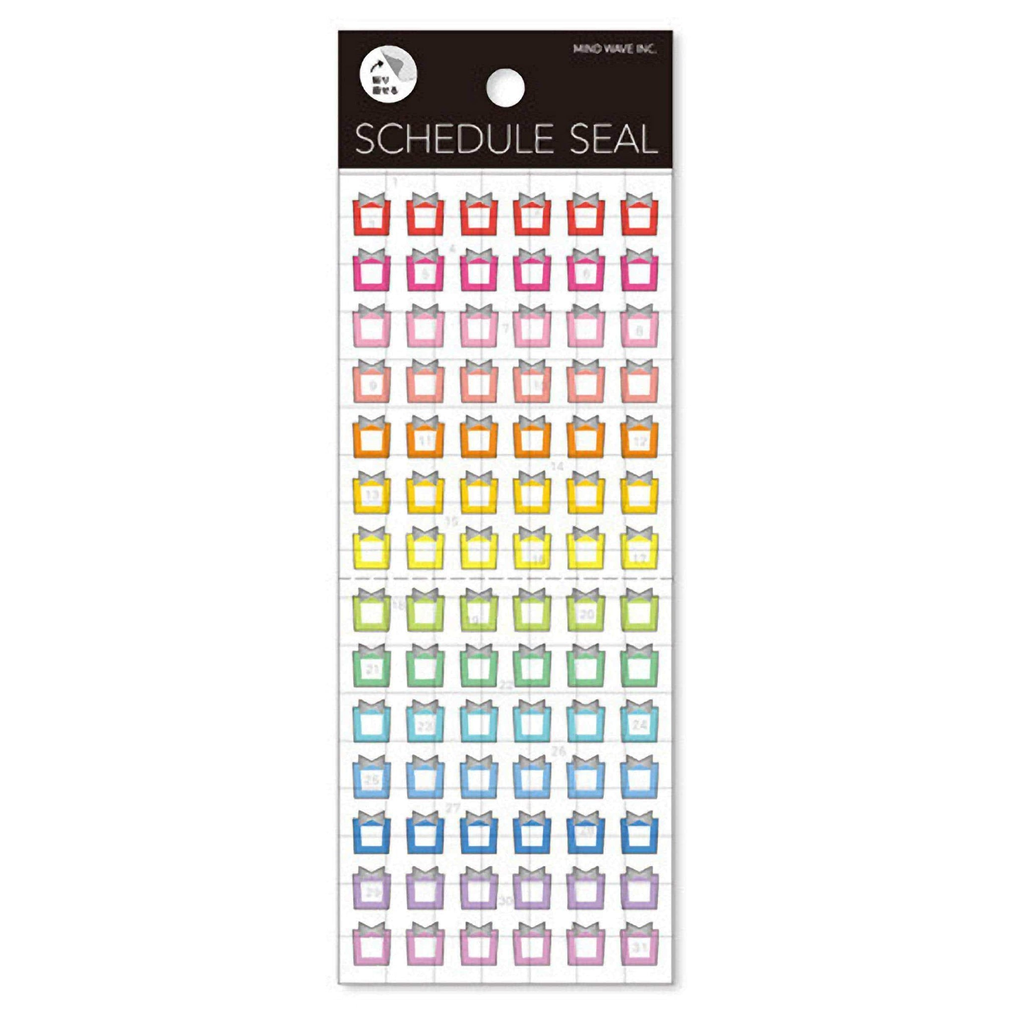 Mind Wave Date Frames Date Markers Schedule Frames Schedule Markers Planner Stickers - The Stationery Life!