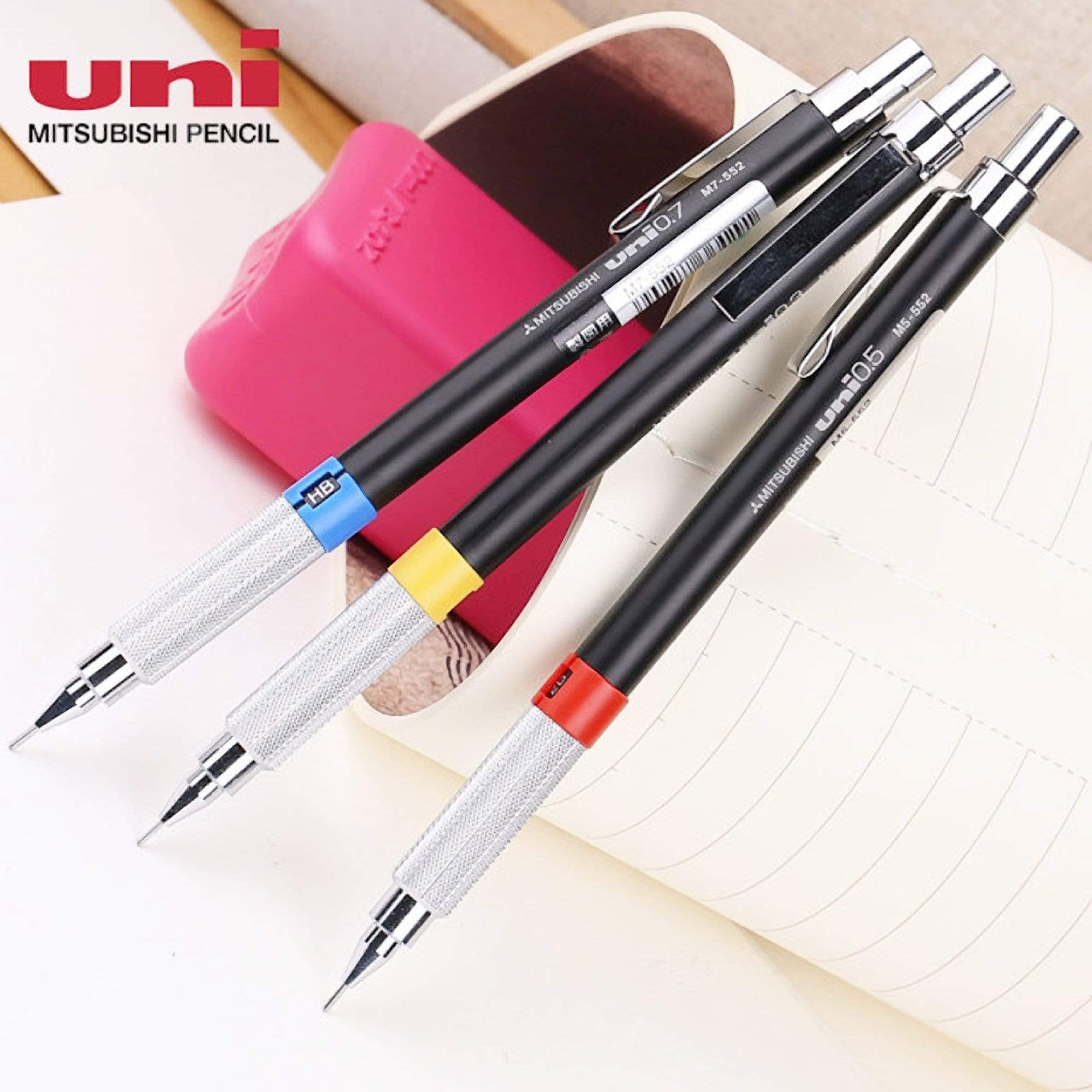 Mitsubishi Uni 552 Series Pencil for Drafting Yellow Band | 0.3 mm - The Stationery Life!