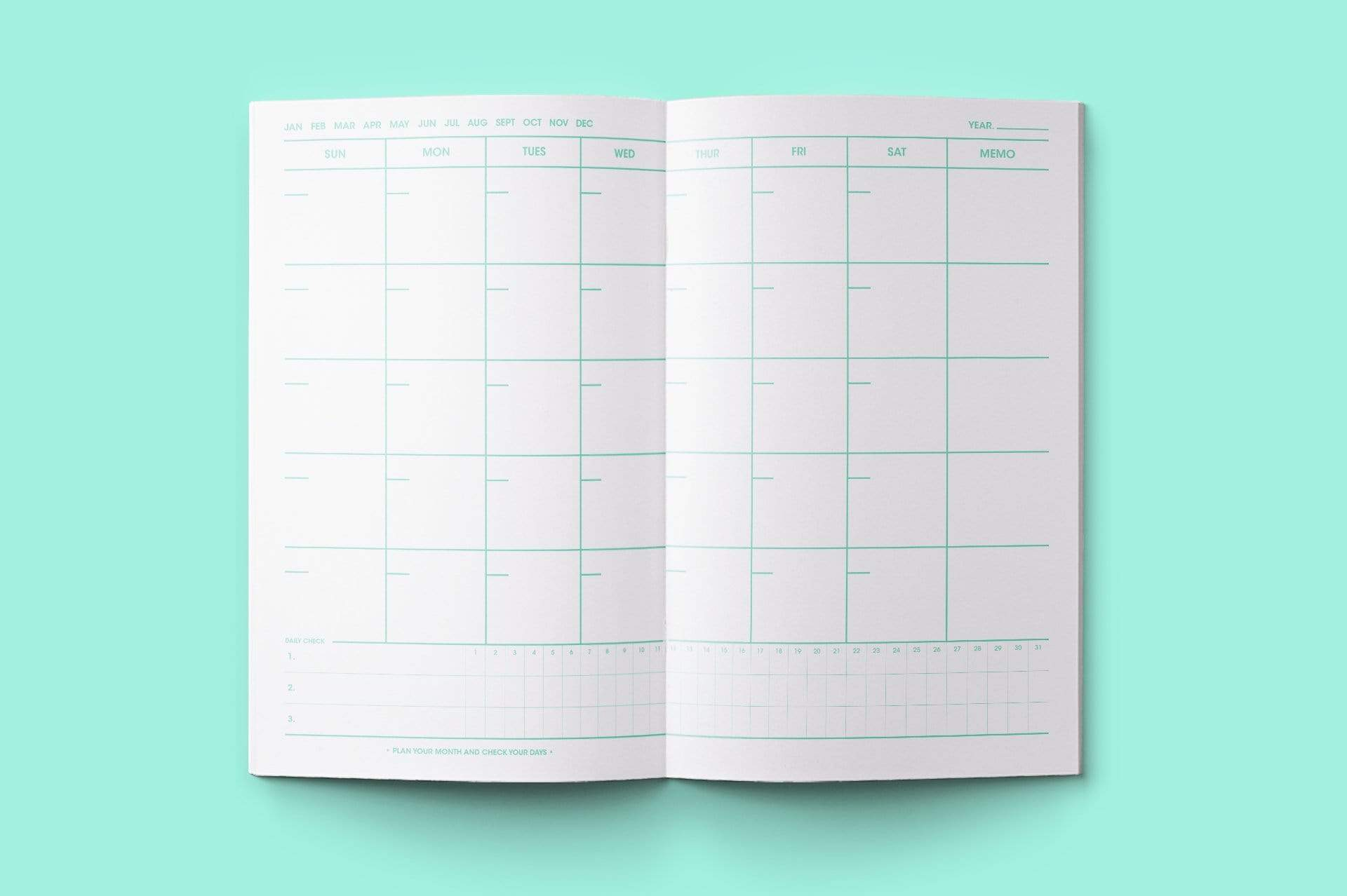 MOTEMOTE Greenery Task Manager Planner | 100 Days - USA located! - The Stationery Life!