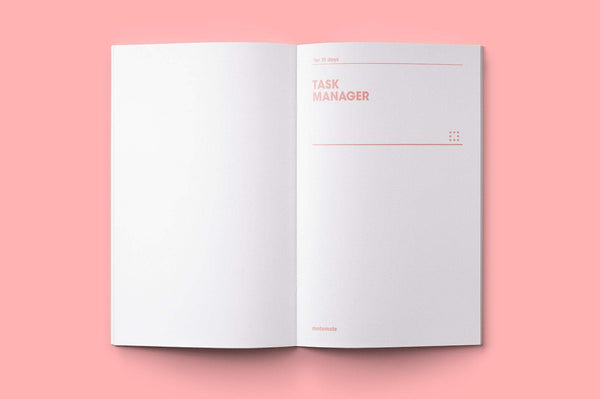 MOTEMOTE Rose Quartz Task Manager Planner | 31 Days - USA located! - The Stationery Life!