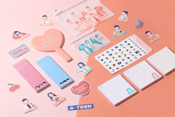 MoteMote Sky Blue Ruled A-Teen Sticky Note Checklist | USA Located! - The Stationery Life!