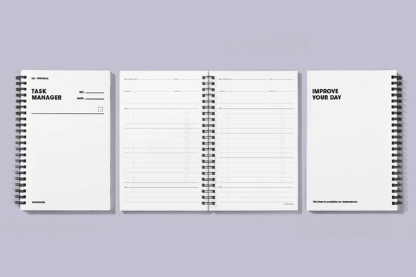 MOTEMOTE White Task Manager Planner | 100 Days - USA located! - The Stationery Life!