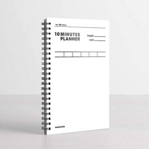 MOTEMOTE White Ten Minute Planner | 100 Days - USA located! - The Stationery Life!