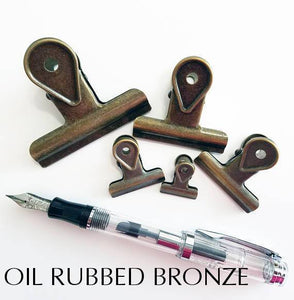 Oil Rubbed Bronze Bulldog Binder Paper Clips - Five sizes & Seven Colors!! Super cute very strong! - The Stationery Life!
