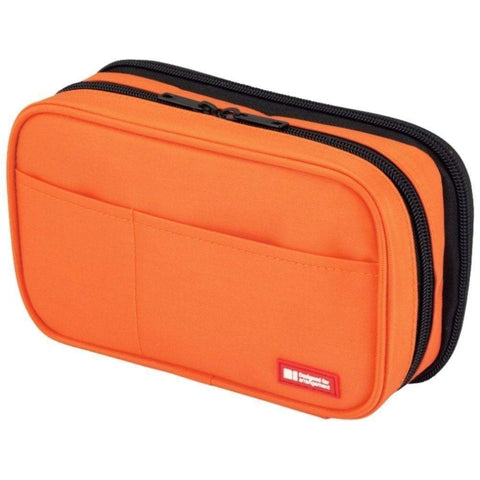 ORANGE Lihit Lab Teffa Double Pen Case - Book Style - The Stationery Life!