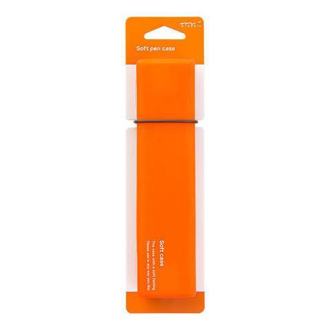 ORANGE Midori Silicone Soft Pen Case - The Stationery Life!