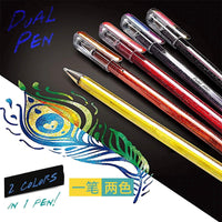 Pentel Hybrid Dual Metallic Gel Pen 1.0 mm Shimmering Ink | Blue & Metallic Green - The Stationery Life!