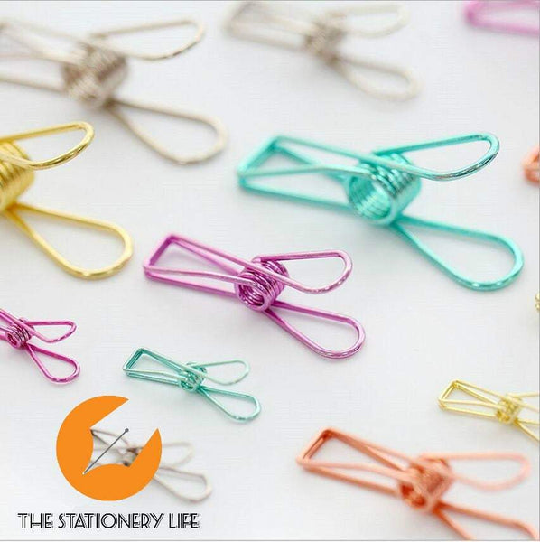 Pink Fish Clips Binder Clips Alligator Clip- Small, Medium & Large! Super cute and very strong! - The Stationery Life!