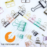 PINK Skeleton Frame Hollow Binder Clips - Small, Medium & Large! Super cute and very strong! - The Stationery Life!