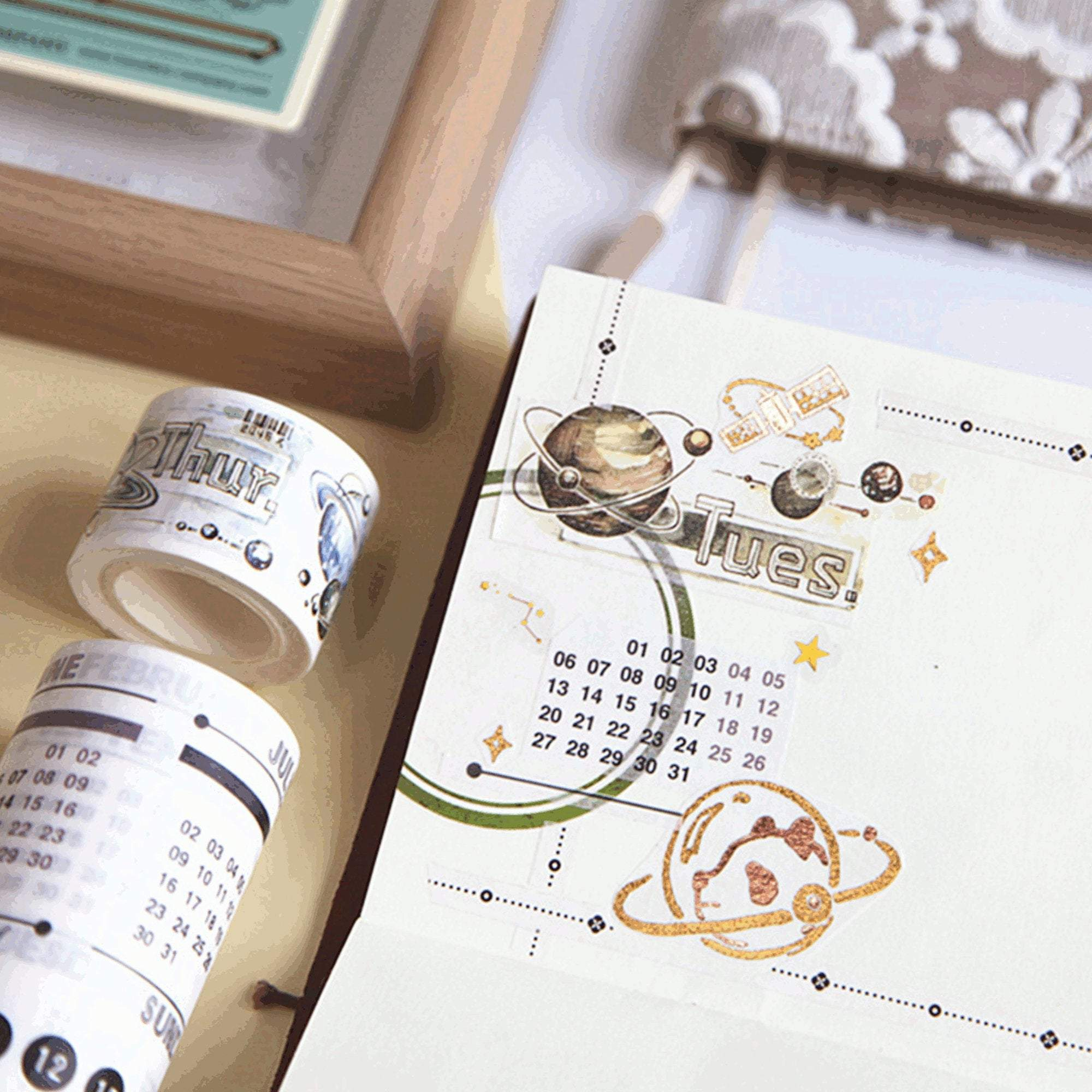 Watercolor Days of the Week Washi Tape