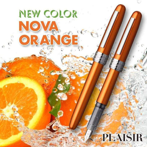Platinum Plaisir NOVA ORANGE Fountain Pen 0.3 Fine NIb - The Stationery Life!