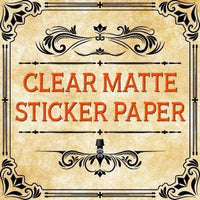 PREMIUM Clear Matte Sticker Paper Matte Sticker Paper Full Sheet Label No Back Slit 8.5 X 11 - The Stationery Life!