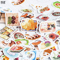 Premium Die-Cut Kawaii Stickers Food Sushi Chinese Take-out Takeaway Salad Wagashi Foodie Stickers - The Stationery Life!