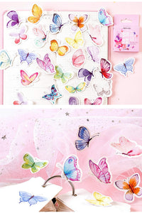 Premium Die-Cut Stickers Beautiful Butterfly Garden Butterflies - The Stationery Life!