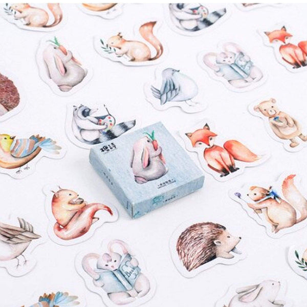 Premium Die-Cut Stickers Forest Animals Woodland Creatures - The Stationery Life!