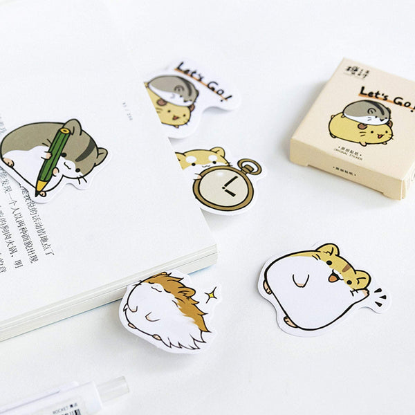 Premium Die-Cut Stickers Guinea Pig Stickers Small Pet Stickers - The Stationery Life!