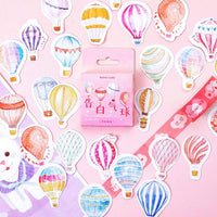 Premium Die-Cut Stickers Hot Air Balloon - The Stationery Life!