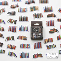 Premium Die-Cut Stickers Library Reading Books Journals - The Stationery Life!