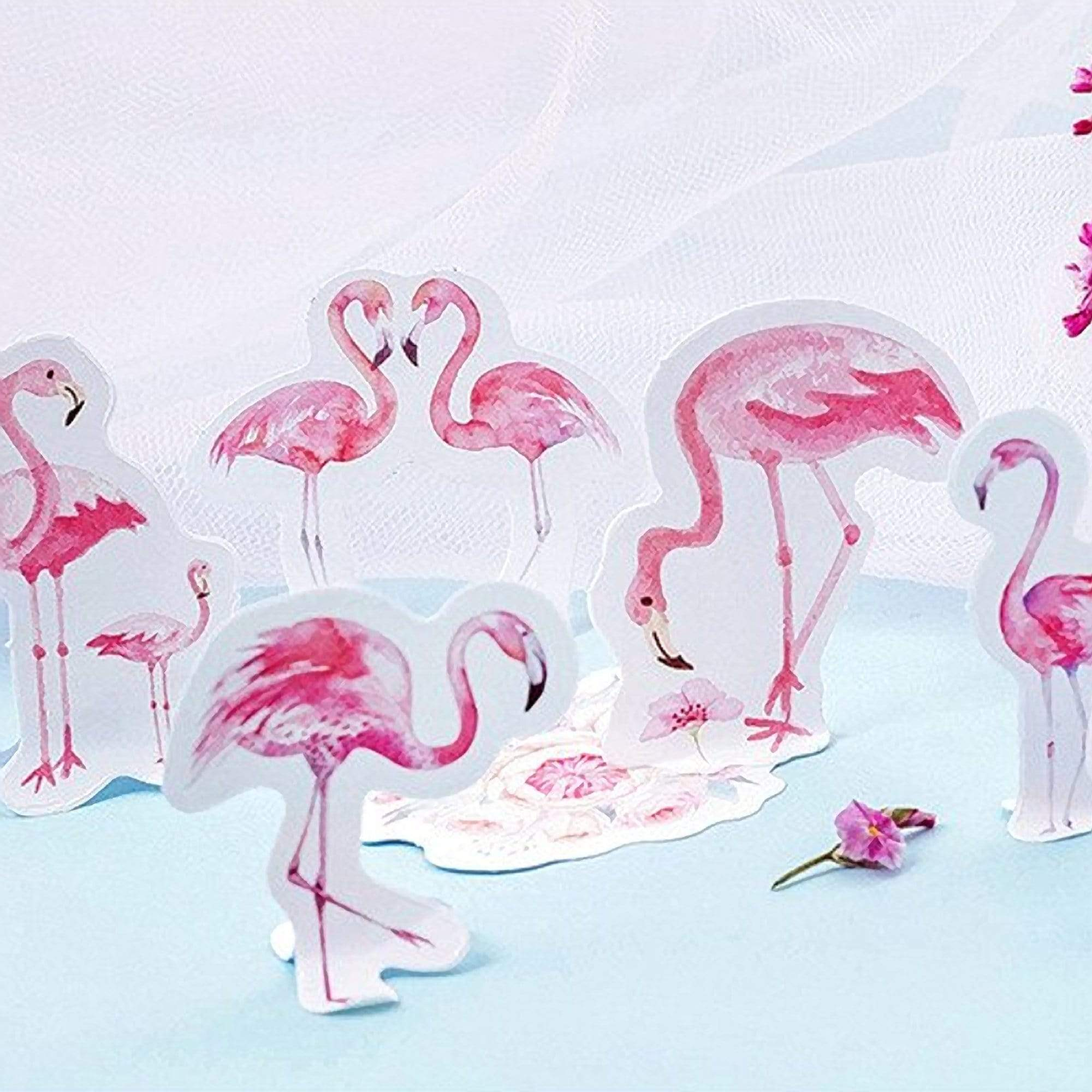 Premium Die-Cut Stickers Pink Flamingo - The Stationery Life!