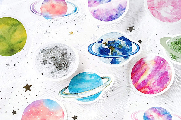 Premium Die-Cut Stickers Planets Space - The Stationery Life!