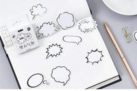 Premium Die-Cut Stickers Speech Bubbles Conversation Bubbles Comic Bubbles - The Stationery Life!