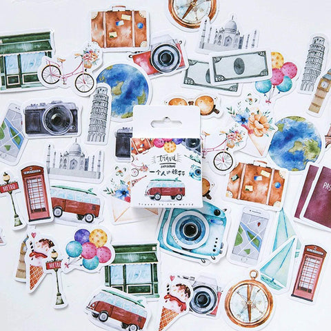 Premium Die-Cut Stickers Travel Car Bus Metro Trip - The Stationery Life!
