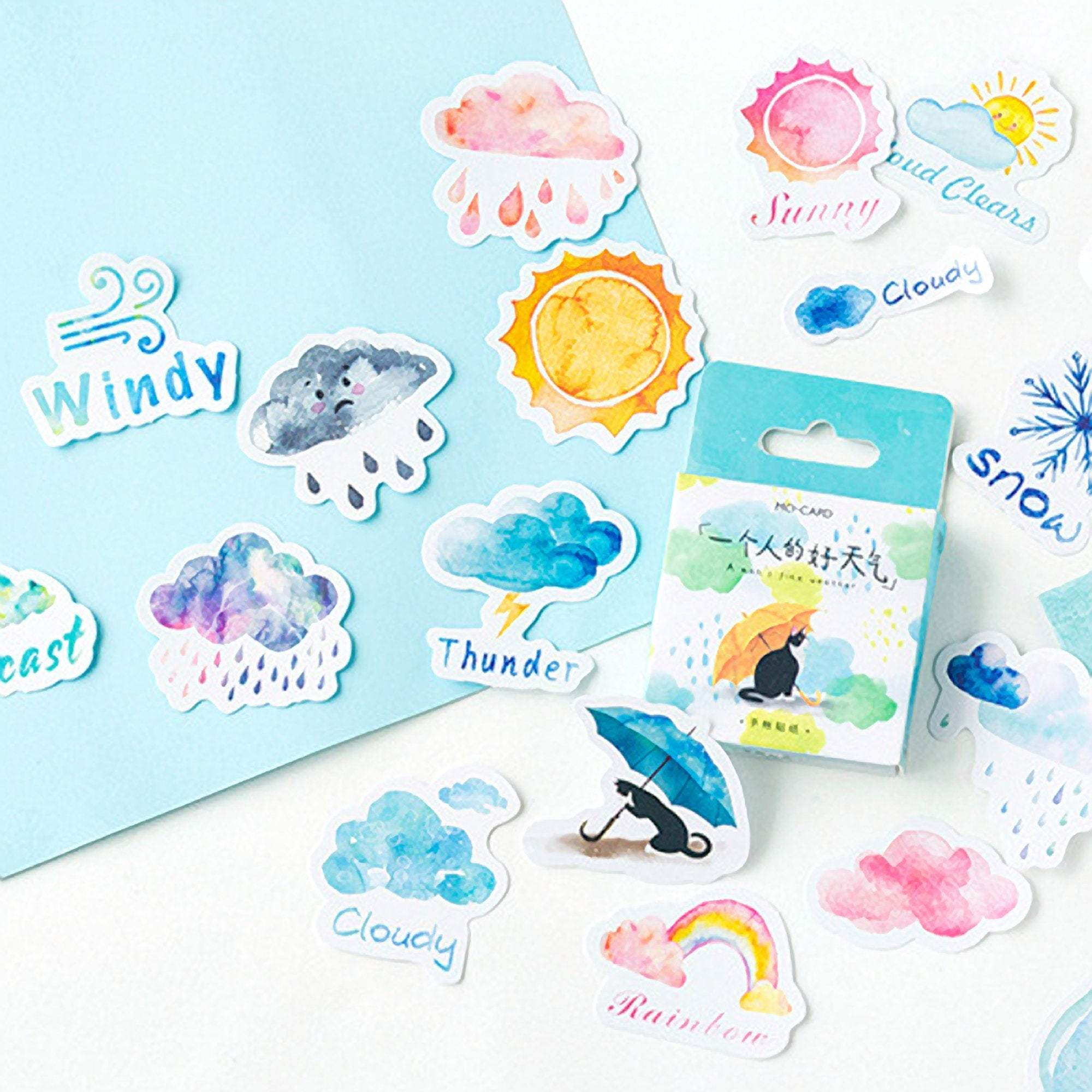Premium Die-Cut Stickers Weather - The Stationery Life!