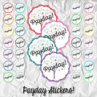 PRINTABLE & Cut File Silhouette Cut File Payday Pay Day Paycheck Money Tree Planner Stickers - The Stationery Life!