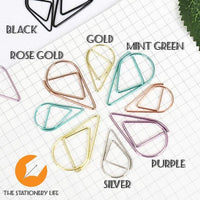 Purple Set Water Drop Tear Drop Teardrop Paper Clips - Three Sizes! - The Stationery Life!