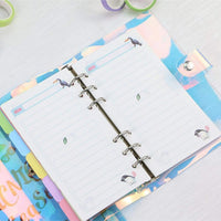 PVC Laser-Cut Hologram Holographic 6 Ring Rainbow Snap Closure Loose Leaf Binder | A5 - The Stationery Life!