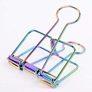 RAINBOW Skeleton Frame Hollow Wire Binder Clips Small, Medium & Large! Super cute and very strong! - The Stationery Life!