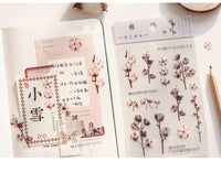 Realistic Flowers Blossoms PET Transparent Dainty Stickers | Cherry Blossom Sakura - The Stationery Life!