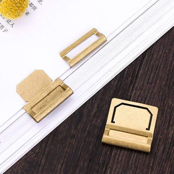 Retro Brass Index Clip Brass Bookmark Brass Tab For Midori Notebook - The Stationery Life!