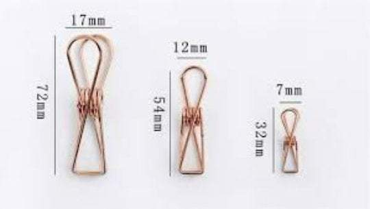 Rose Gold Copper Fish Clips Binder Clips Alligator Clip- Three Sizes! - The Stationery Life!