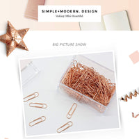 SET OF TEN Rose Gold Small Paper Clips | 28mm - The Stationery Life!