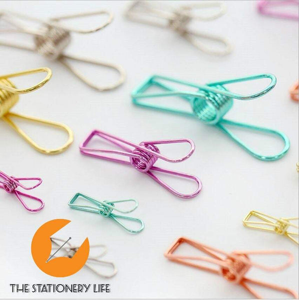 Silver Fish Clips Binder Clips Alligator Clip- Small, Medium & Large! Super cute and very strong! - The Stationery Life!