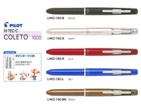 SILVER Pilot Hi-Tec-C Coleto 1000 | 4 Color Multi Pen Body - The Stationery Life!