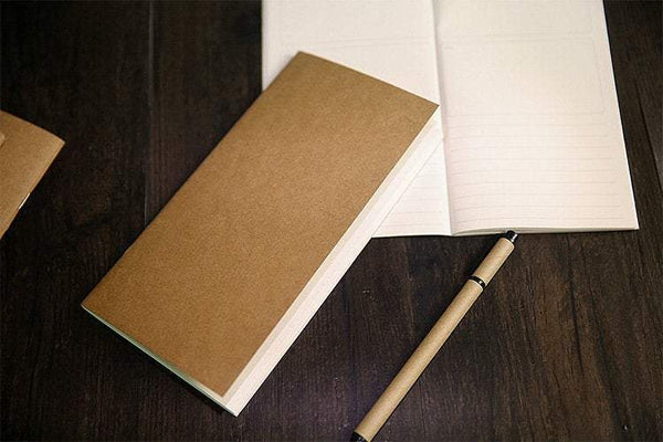 STANDARD Size KRAFT Sketchbook - Traveler's Insert Traveler's Refill - The Stationery Life!