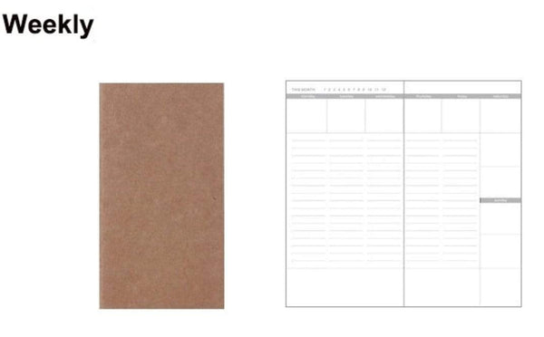 STANDARD size WEEKLY Printed Traveler's Insert Traveler's Refill - The Stationery Life!