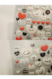 Suatelier Sonia Puffy 3D Stickers 1015 | Balloon Heart Puffy Heart Stickers 3D Heart Stickers - The Stationery Life!