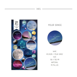 Suatelier Sonia PVC Puffy 3D Stickers 2036 | Your Space Galaxy Stickers Outer Space Stickers Planet - The Stationery Life!
