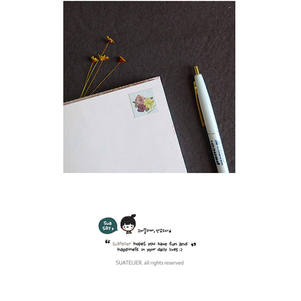 Suatelier Sonia PVC Transparent Stickers 1045 | Vintage Flower Daisy Sticker Rose Sticker Sunflower Sticker - The Stationery Life!