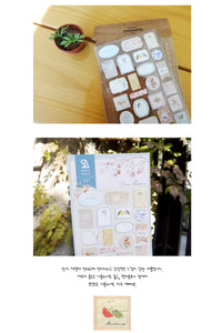 Suatelier Sonia PVC Transparent Stickers 2012 | Love Blossom Frame Sticker Placard Sticker Tag Gift - The Stationery Life!