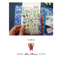 Suatelier Sonia PVC Transparent Stickers | Love Flower Wildflowers Bouquets Flowers Fruit Berry - The Stationery Life!