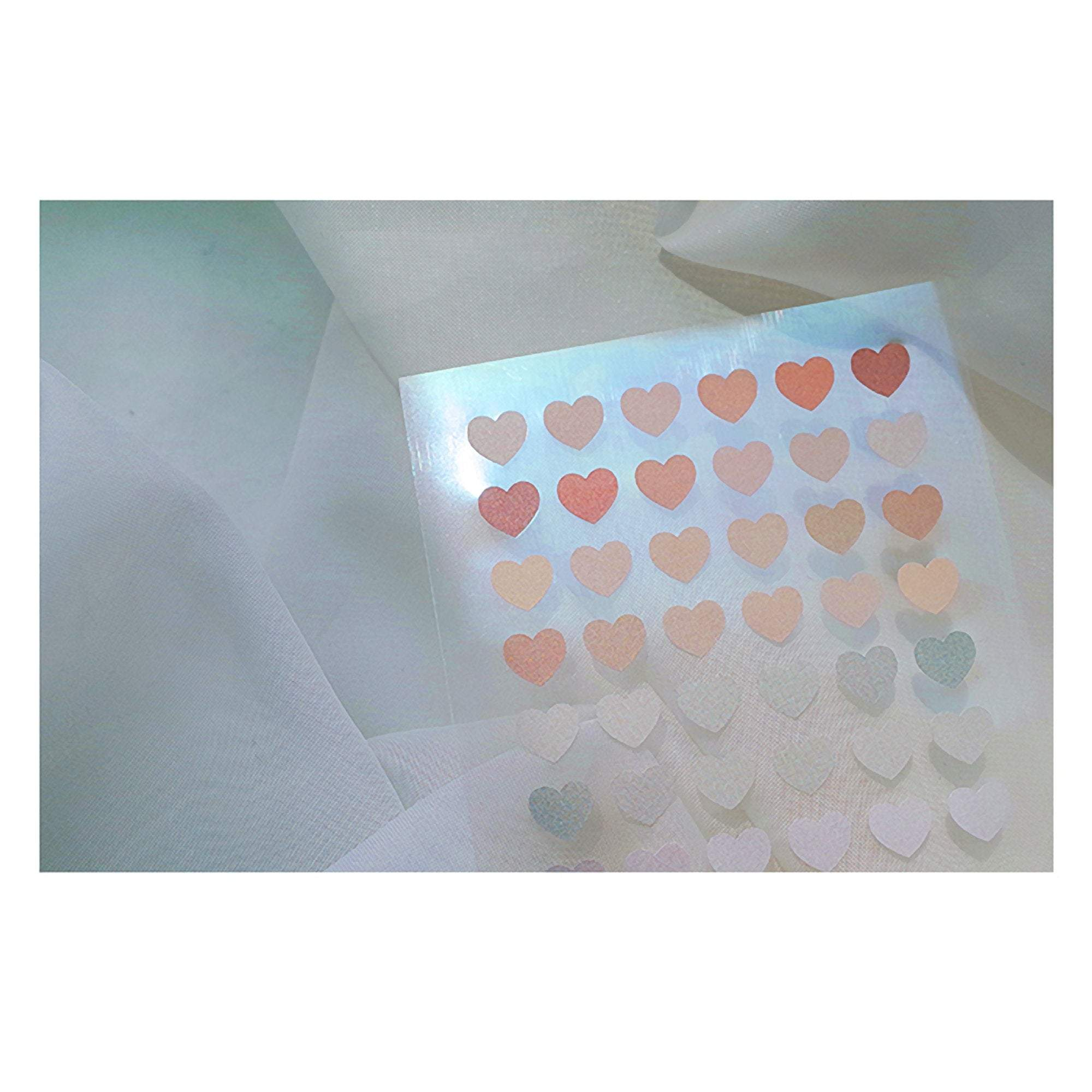 Suatelier Translucent Planner Stickers 1655 | Plain Shapes 51 Heart Translucent Stickers - The Stationery Life!