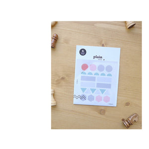 Suatelier Translucent Planner Stickers | Plain Shapes 03 - The Stationery Life!