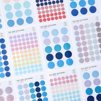 TRANSPARENT PET Pastel Dot Stickers Circle Stickers | Persimmon - The Stationery Life!