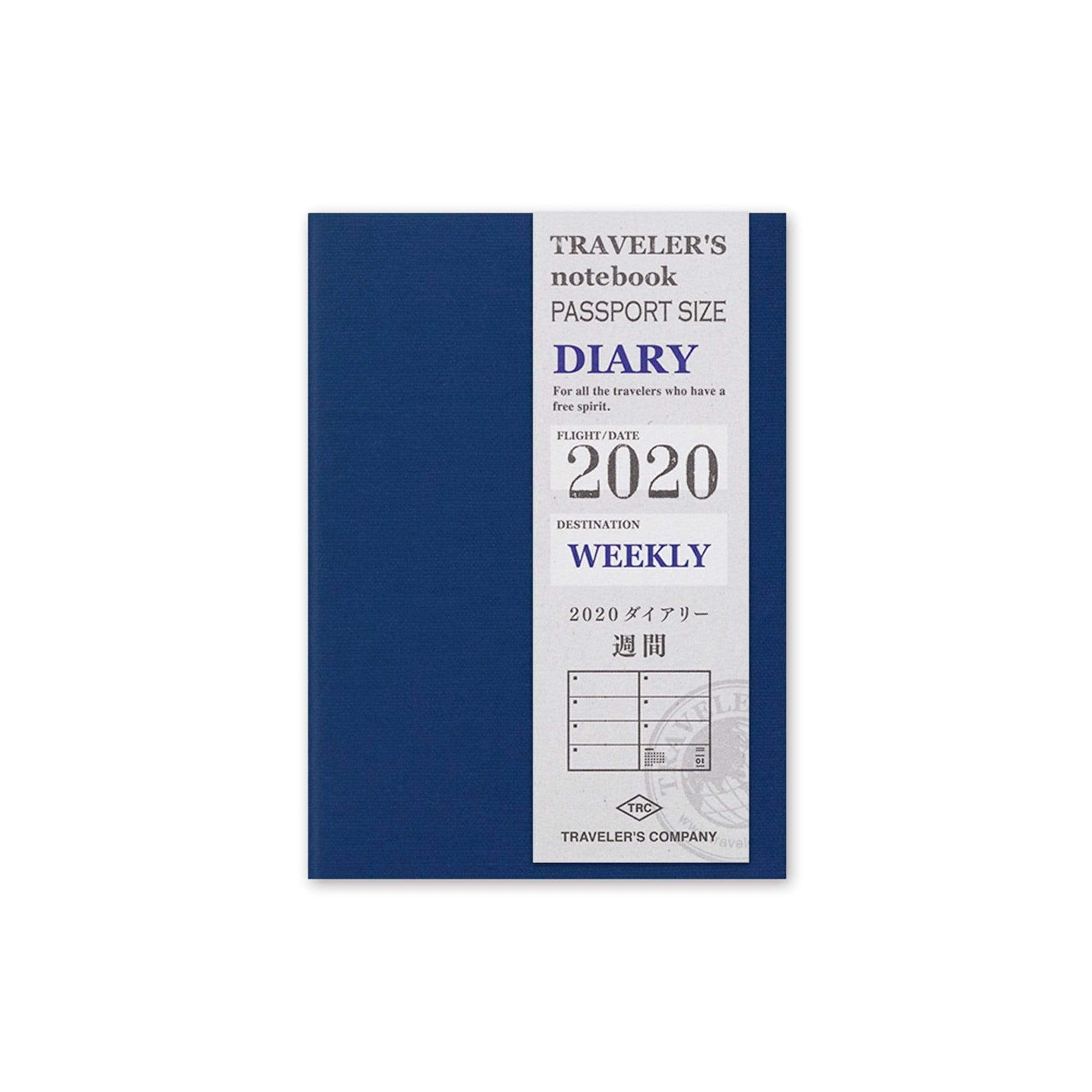 TRAVELER'S Company Notebook Diary 2020 Weekly + July thru December Guide Planner Refill | Passport Size - The Stationery Life!