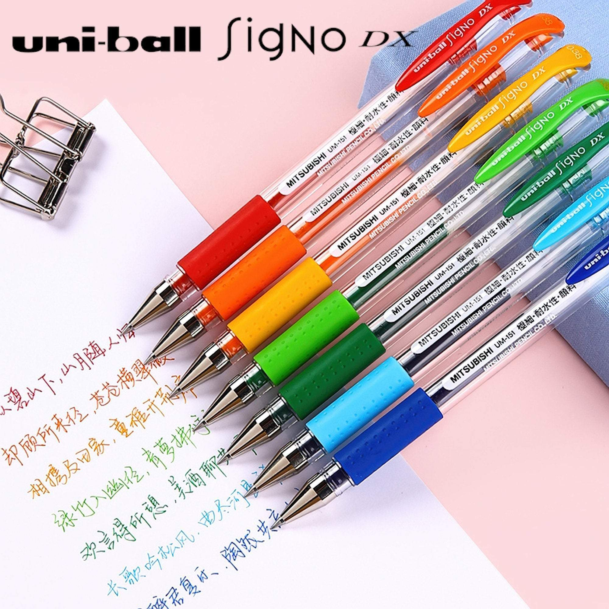 Uni-ball Signo UM-151 Gel Pen APRICOT ORANGE | 0.38 mm - The Stationery Life!